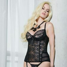 NEW Coquette Lingerie Mischief Lace Bustier with Removable Cups