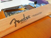 Fender Telecaster Decal USA Standard (Metallic Gold Logo)