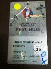 EURO 2016 VIP PLATINIUM TICKET ITALY x REPUBLIC OF IRELAND