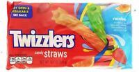 Twizzlers Rainbow Candy Straws Twists Raspberry Melon Lemon Licorice 12.4oz