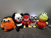 "RYAN'S WORLD Plush 7"" Set Of 5 Ryan, Gus, Moe, Peck, Combo Panda kids Xmas Gift"