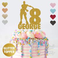 Personalised Custom Glitter Cake Topper Floss Like A Boss Fortnite Birthday Cake