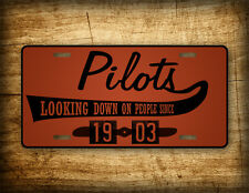 Pilot Gift License Plate  BROWN or PINK Aviation Auto Tag Vintage Retro Airplane