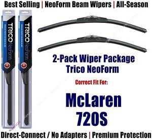 2pk Super-Premium NeoForm Wipers fit 2019+ McLaren 720S - 162412x2