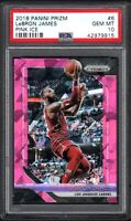 2018 Panini Prizm #6 LeBRON JAMES Pink Ice PSA 10 GEM MINT