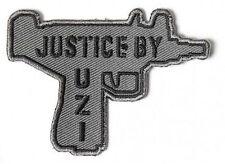 JUSTICE BY UZI Funny Second 2nd Amendment Machine GUN NRA Biker PATCH PAT-3682