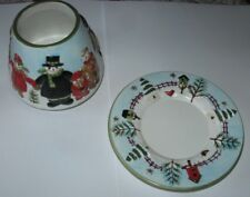 Yankee Candle Kogut Jack Frost Winter Holiday Candle Shade Plate Topper Set NEW