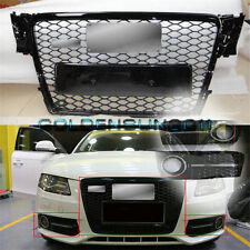 RS4 Gloss Black Euro Grille + Fog Grille Cover for Audi A4 S4 B8 8K Avant 09-12