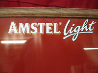 Vintage Amstel Light Beer Write on Menu Board