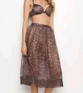 Victoria Secret Floral Lace Mesh lingerie Skirt Small *NWT*