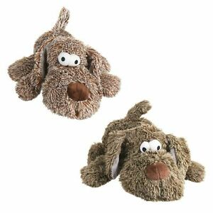 Crufts Pet Dog Puppy Chew Toy Squeaker Squeaky Soft Plush Play Sound Teeth Toys