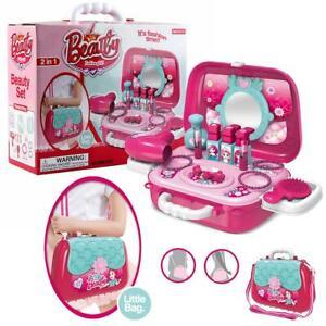 Pretend Play Makeup Toy Beauty Salon Set for Little Girls Kids with Shoulder Bag
