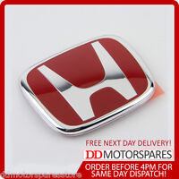 NEW GENUINE HONDA CIVIC & ACCORD TYPE R EP2 EP3 2004-06 RED GRILLE BADGE EMBLEM