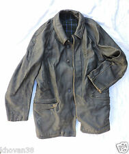 Veste cuir noir  Sapeurs pompiers  années 50/60