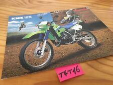 Kawasaki KMX125 KMX 125 brochure catalogue moto prospectus publicité prospekt