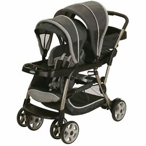 Graco Ready2Grow LX Stroller 12 Riding options fits 2 Infant Car Seats, Glacier