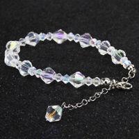 Fashion Zircon Crystal Bracelet Women Chain Rhinestone Bangle Wedding Jewelry Y