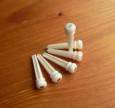 Bone Conchiglia ponte pin set corda di chitarra acustica folk esegue il pegging Pin Avorio