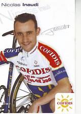 CYCLISME carte cycliste NICOLAS INAUDI équipe COFIDIS 2005 signée