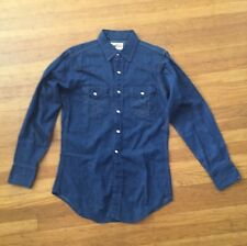 MINT VTg RARE 1960s LVC PENNY'S  RANCHCRACT DENIM WESTERN SAWTOOTH SHIRT M 15 33