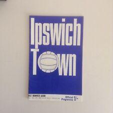 Ipswich Town  Football Programmes - 1960's to 1980's  - Various Fixtures