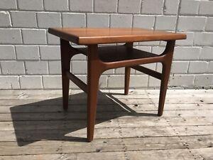 Teak Tisch Beistelltisch Coffee Table Niels Bach denmark Danish Modern Design