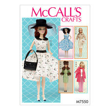 McCall's 7550 Sewing Pattern to MAKE Teenage Doll Clothes & Acc Sindy Barbie