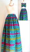 UK Size 14 Womens Skirt/ Maxi Skirt/ Bold Print/ Multi-Coloured/ Boho/ Ankara