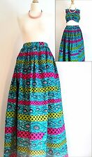 UK Size 14 Womens Skirt/ Maxi Skirt/ Bold Print/ Multi-Coloured/ Boho/ Ankara