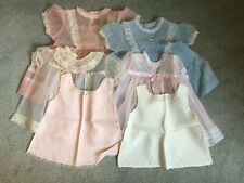 Lot of 6 Vintage Baby or Doll Clothes Dresses/Slips
