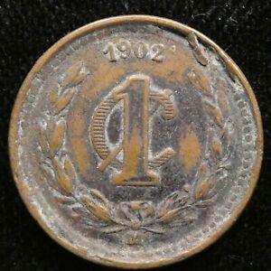 1902 Mexico 1 Centavo F