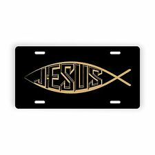 """Jesus Fish Holy Christian Novelty Licence Plate 6"""" x 12"""" Aluminum Plate"""