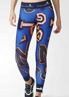 NEW Adidas Stellasport printed leggings women running gym dance blue yoga M (12)