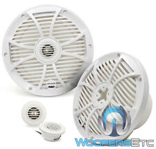 """WET SOUNDS SW-808-W 8"""" 125W RMS WHITE MARINE BOAT COAXIAL SPEAKERS TWEETERS NEW"""