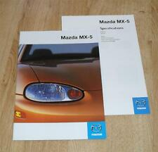 Mazda MX-5 Brochure 1998 MX5 1.6I 1.8I 1.8 IS Mk2 With UK Specification Guide