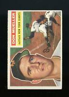 1956 Topps BB Card #241 Don Mueller New York Giants NR-MINT