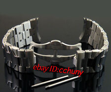 24mm 316L WATCH REPLACEMENT stainless steel solid bracelet bands strap p145