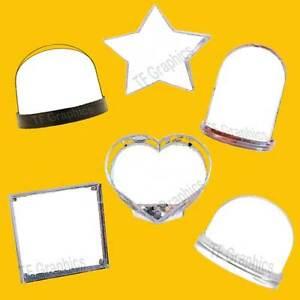 Personalised Photo Snow Globes - Glitter Globes Shaker Ornament Christening Gift