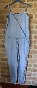 Bettina Liano Size 12 Chambray Jumpsuit Like New