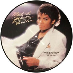 Michael Jackson Thriller vinyl LP picture disc back insert NEW
