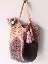 Shoping bag crochet Women/Ialies handbag,tose bag,granny square New brow-gold