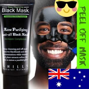 BAMBOO BLACK CHARCOAL PEEL OFF FACE MASK, BLACK HEAD REMOVER ACNE TREATMENT