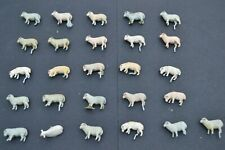 O Gauge Model Railway Accessories Hand Painted White Metal Sheep x 26