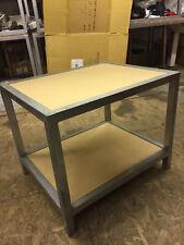2 Shelf Lacquer Metal Maple Top END TABLE Living Room Metro Modern Rectangular