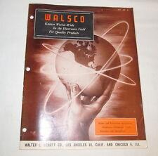 Vintage 1952 WALSCO No. 52 Catalog/Price List Store Brochure J1017