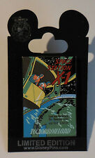 Disney Pin Dlr Framed Attraction Poster X-1 Space Station Pin Le1500