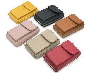 Damen Handytasche mit Geldbörse Portemonnaie Umhängetasche Brieftasche Crossbody
