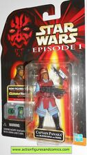 STAR WARS Episode I 1 Phantom menace CAPTAIN PANAKA 1999 commtech MOC mip mib