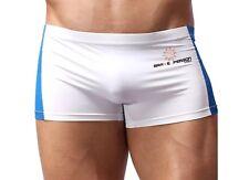 """Para Hombre Nylon Spandex Sexy de persona valiente Blanco Deportes Calzoncillos Tiro Bajo UK 32"""" 35"""" 358"""