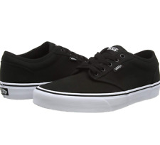 "NEW Vans Atwood Canvas ""Off The Wall"" Men's Black Skate Shoes"